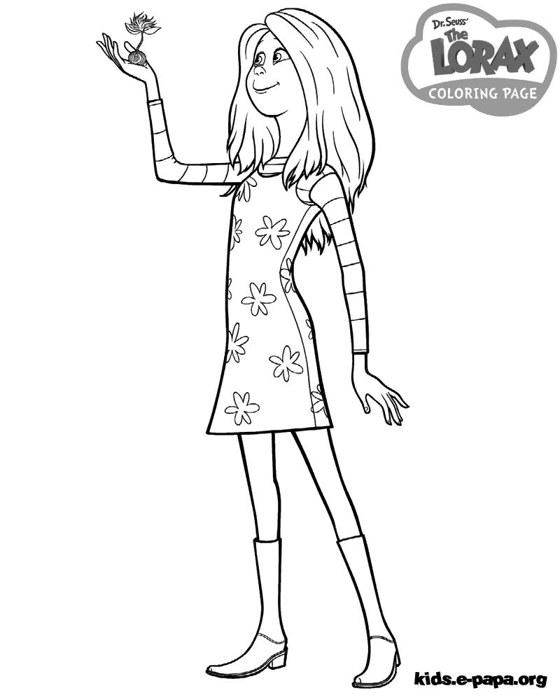 Audrey Dibujos para colorear Lorax