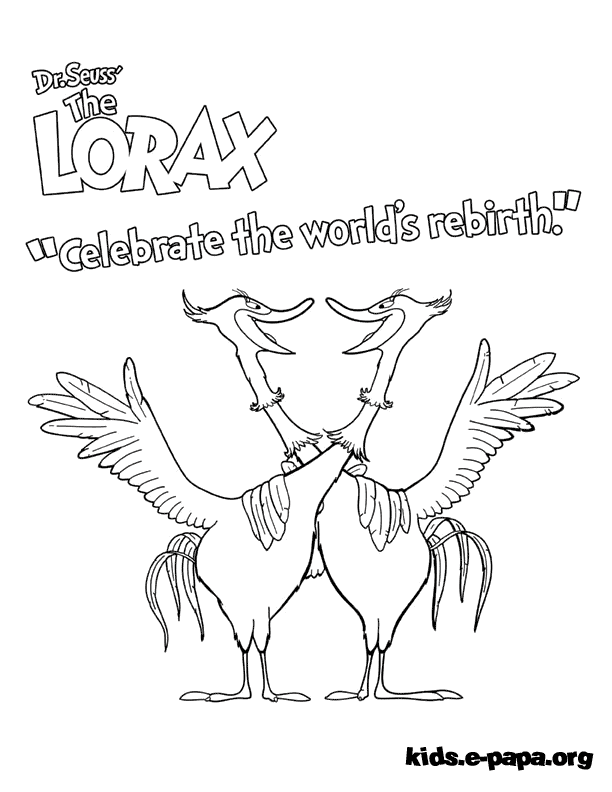 the lorax coloring pages - dibujos para colorear swomee swan