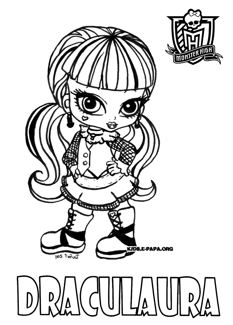 Draculaura Dibujos para colorear Monster high