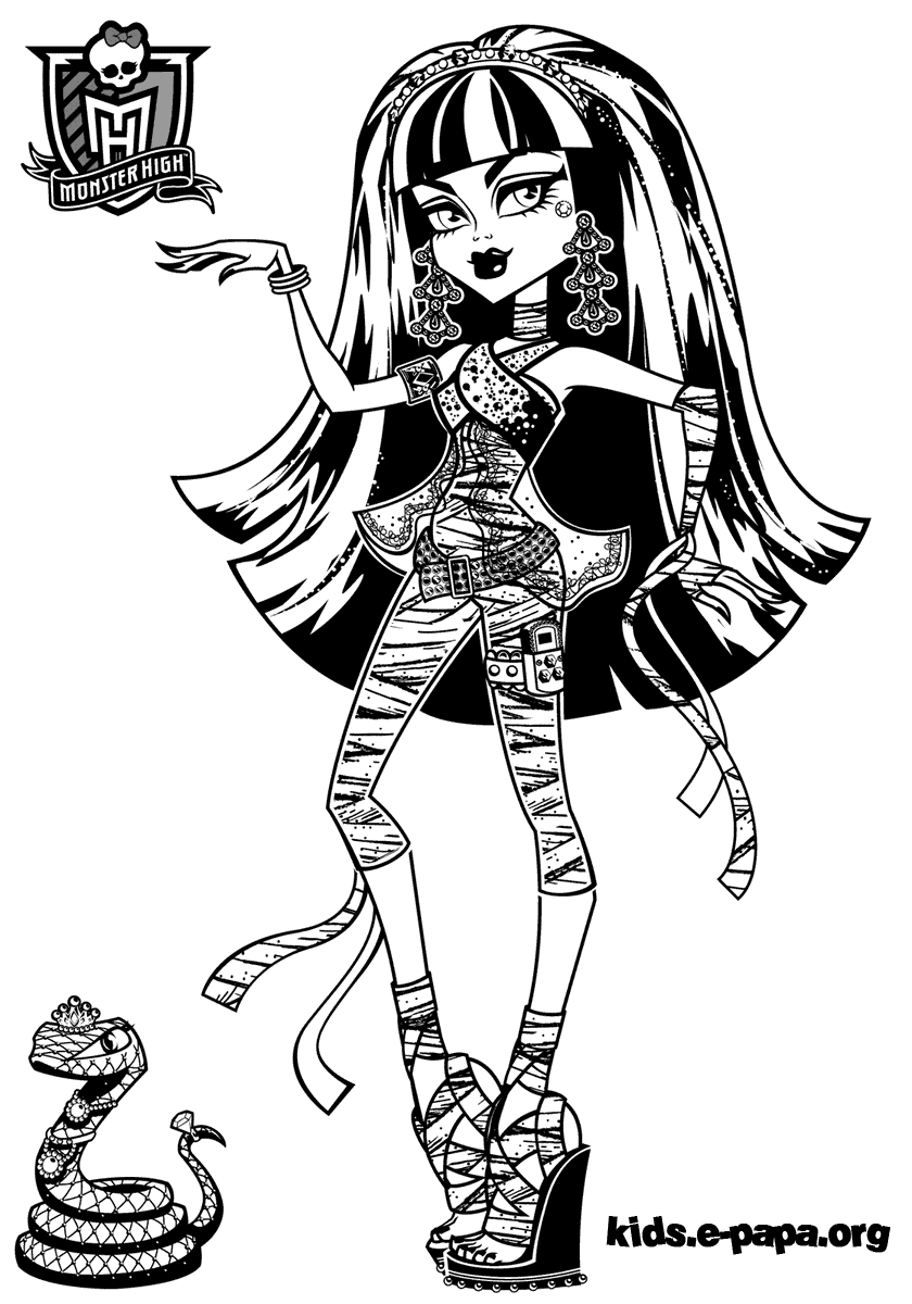 Cleo de Nile Dibujos para colorear Monster high