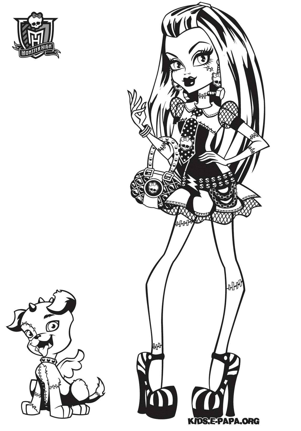 Frankie Stein Dibujos para colorear Monster high