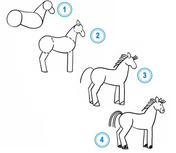 Cómo dibujar un caballo? ¿Cómo dibujar animales?. Aprender a dibujar